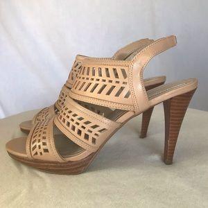 NYOP! Adrienne Vittadini Prim Nude sandals Sz:8.5M